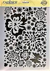 Pomôcky/Nástroje - Plastová šablóna - kvety - 9710734_