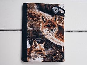 Papiernictvo - obal na pas líšky - 9712571_