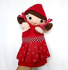 Hračky - Maňuška dievčatko - Červená čiapočka - 9712924_
