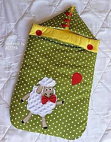 Textil - Detský fusák, spací vak ovečka - 9712891_