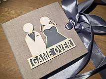 Papiernictvo - Svadobná obálka na peniaze GAME OVER - 9710171_