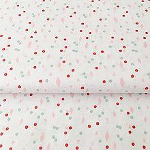 Textil - pastelovo-zelené minitvary; 100 % bavlna Francúzsko, šírka 150 cm - 9709938_