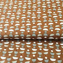 Textil - čokoládka, 100 % bavlna Francúzsko, šírka 160 cm - 9711423_