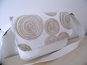Kabelky - kabelka Zlaté kruhy - 9712286_