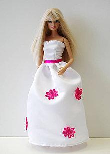 Hračky - Svadobné šaty s kvetmi pre Barbie - 9711605  9ba30d3ef5b