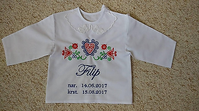 Textil - Vyšívaná košieľka na krst - 9711086_