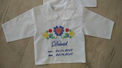 Textil - Vyšívaná košieľka na krst - 9712644_