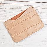 Peňaženky - Béžová mini peňaženka. - 9711895_