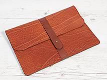 Na notebook - Ryšavý kožený obal na notebook. Puzdro na notebook - 9712015_