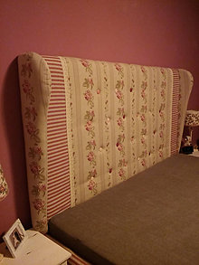 Nábytok - Čalúnené čelo postele, zástena - 9710619_