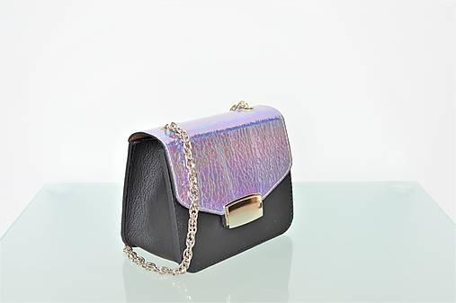 Kožená kabelka KATI mini čierna-kovová metalíza   Emmka-shop - SAShE ... 20763587eaf