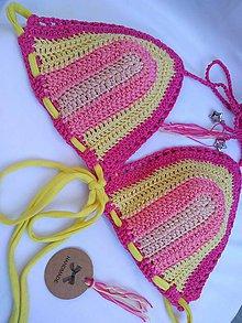 Bielizeň/Plavky - háčkované plavky LETNÁ DÚHA - 9710507_