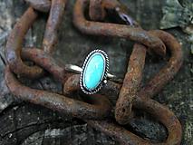 - Strieborny prsteň Ag925 Tyrkys - 9710018_