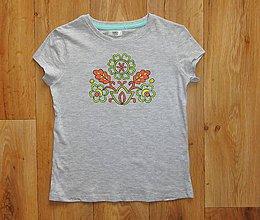 Detské oblečenie - Detské maľované tričko - 9712674_