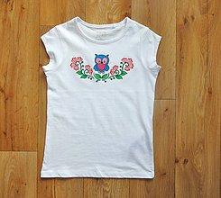 Detské oblečenie - Detské maľované tričko sovička - 9712743_