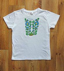 Detské oblečenie - Detské maľované tričko - 9712775_