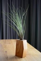 Nádoby - Čerešňový geometrický kvetináč s tillandsiou - 9713181_