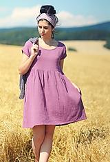 Šaty - Bordó šaty z mušelínu - 9711358_