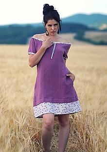 Šaty - Bordó fáčové s kytičkami - 9711308_
