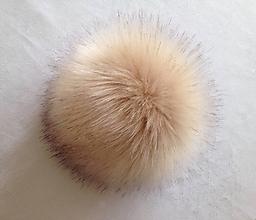 Materiál ručne robený - Tmavší maslový brmbolec - 9710531_