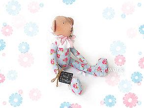 Hračky - Textilná hračka - Macko ružičkový - 9710520_