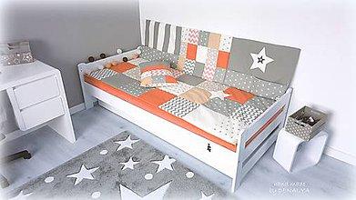 Textil - Set z kolekcie STAR Orange - prehoz+mantinel - 9716251_