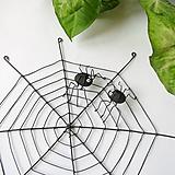 - pavučina s pavúčikmi 32cm  (pavučina s jedným pavúčikom) - 9714980_