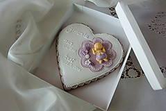 Dekorácie - Medovník ku krstu v krabičke  - 9715232_