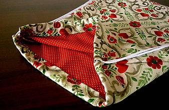 Batohy - vrecko na chrbát - červené srdiečko - 9715865_