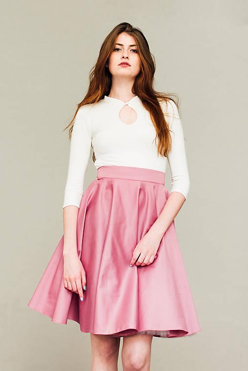 b5d1a9ee0 Růžová kolová sukně s podšívkou / REPARADA - SAShE.sk - Handmade Sukne