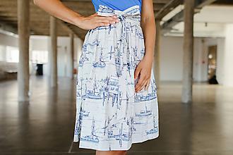 Sukne - Zavinovací sukně Něžný přístav - 9713627_