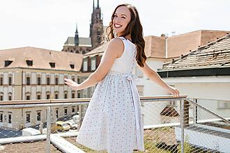 Tehotenské oblečenie - Těhotenské šaty s knoflíčky na zádech Čaj o páté - 9713700_