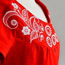 Košele - Červená retro blúzka - 9713318_