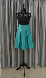 Sukne - Dámska skladaná sukňa s kvetovaným opaskom (bez opasku) - 9716866_