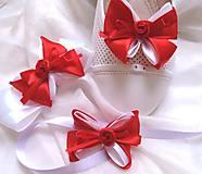 Darčeky pre svadobčanov - svatební sada pro družičku - červenobílá - 9714676_