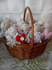 Dekorácie - košík plný voňavých levanduľových Mini anjelikov - 9715507_