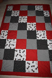 Úžitkový textil - PATCHWORKOVÁ DEKA ...kočky - 9715487_