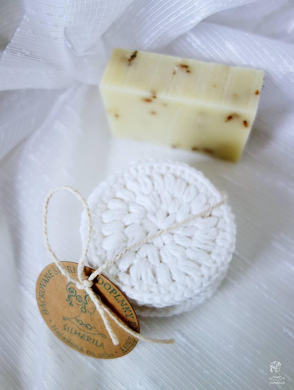 Háčkované odličovacie tampóny z bio-bavlny