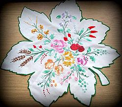 Úžitkový textil - Veľký obrus  - List - 9715197_
