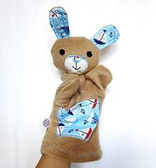 Hračky - Maňuška zajačik - Zajo námorník - 9716418_