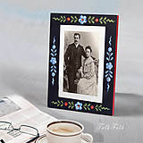 - Ručne maľovaný rámček Anna Rosemaling - 9716387_