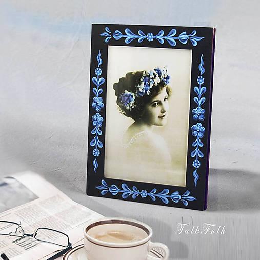 Ručne maľovaný rámček Anna Hindeloopen (Modrá)
