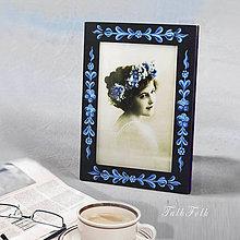 Rámiky - Ručne maľovaný rámček Anna Hindeloopen (Modrá) - 9716393_