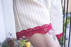 Nohavice - Kraťasy elegant červené - 9714687_