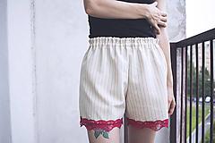 Nohavice - Kraťasy elegant červené - 9714689_