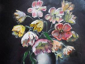 Obrazy - Vázička s kvetmi - 9714935_