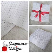 Textil - Detská deka 70x90 cm (Svetlá ružová) - 9715871_