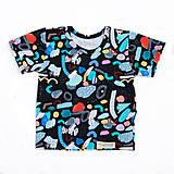 Tričká - BIO tričko crazy pastels black - 9713722_