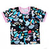 Detské oblečenie - BIO tričko crazy pastels pink - 9713736_