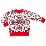 Detské oblečenie - Detská mikina - Red folk ornament - 9714511_